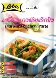Sos Do Tajskiego Stir-Fry Kurczak Curry 60g LOBO