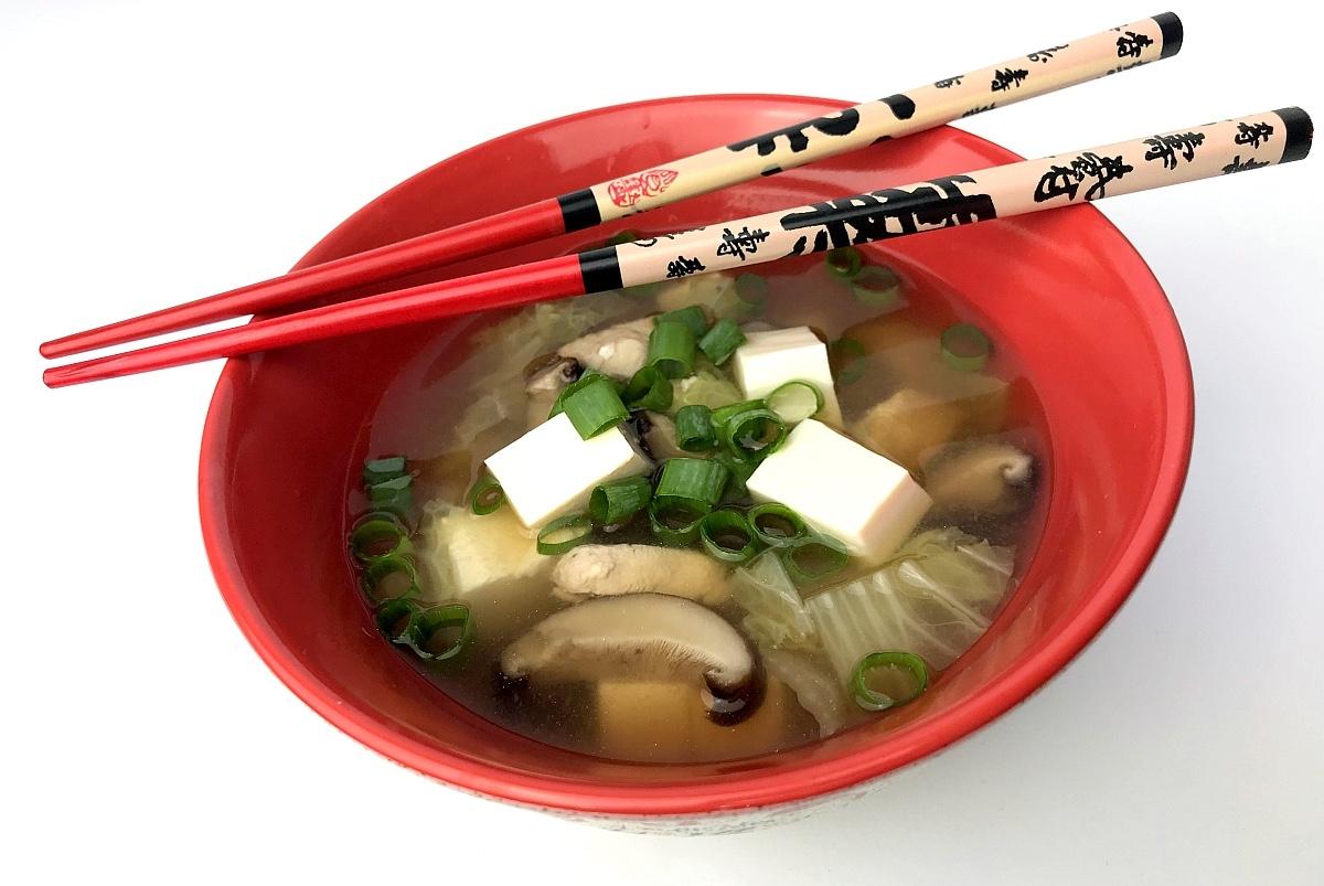 Zupa Miso z Kurczakiem